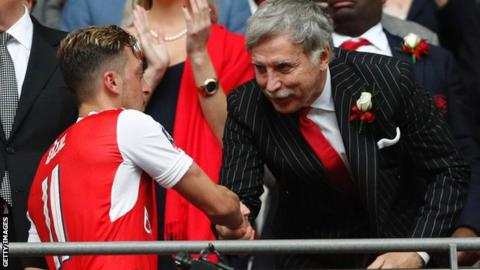 Arsenal fans slam Kroenke takeover