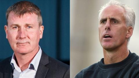 Stephen Kenny and Mick McCarthy