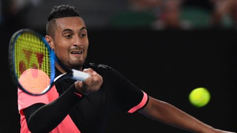 Nick Kyrgios of Australia