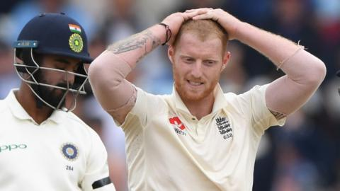 Ben Stokes shows signs of frustration