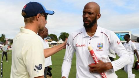 Joe Root and Roston Chase