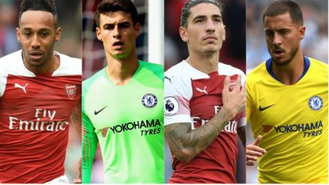 English Premier League Starting XI: Chelsea v Arsenal 18 August 2018