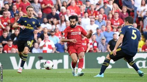 Liverpool 3-1 Arsenal: Mohamed Salah scores twice for Reds