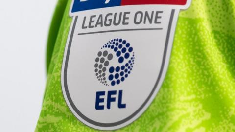 League One badge on shirt sleeve