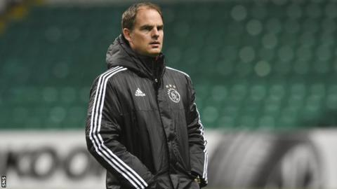 De Boer has won four Dutch titles since taking over at Ajax in 2010