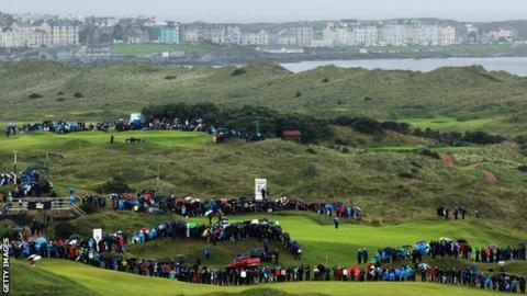 Royal Portrush during the 2012 Irish Open