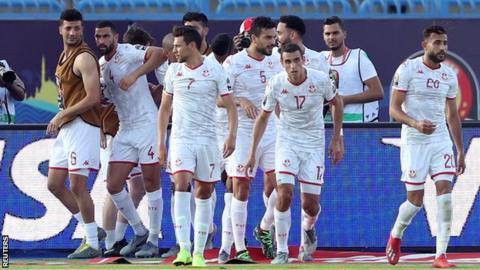 Tunisia players celebrate