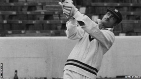 Ajit Wadekar batting at The Oval in 1971