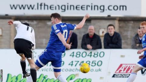 Michael Donald fires in the opening goal for Ayr United