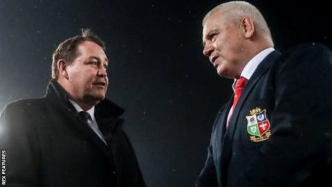 All Blacks head coach Steve Hansen and Wales boss Warren Gatland