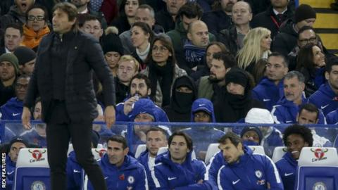 Antonio Conte and David Luiz