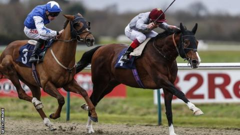 Toast of New York, with Frankie Dettori on board, races to victory at Lingfield