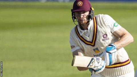 Rob Keogh in action for Northants