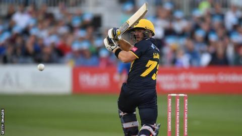 Opener David Lloyd anchored Glamorgan's innings at Hove