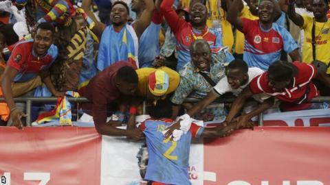 DR Congo celebrate
