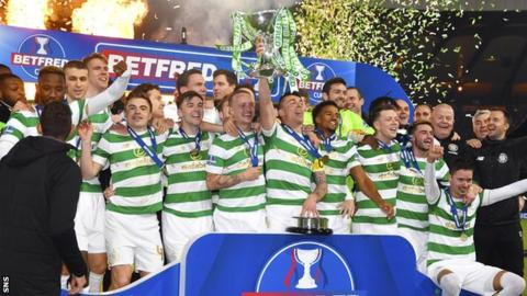 Celtic won the Scottish League Cup in 2017