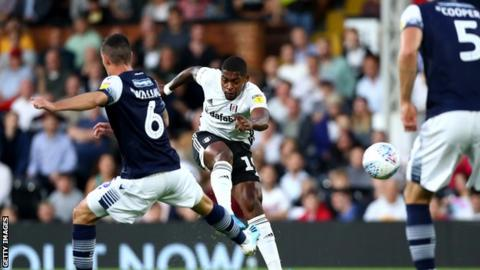 Ivan Cavaleiro fires home Fulham's opening goal against Millwall