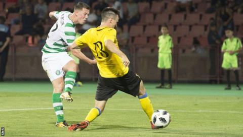 Callum McGregor scores for Celtic against Alashkert