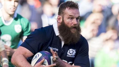 Geoff Cross in action for Scotland