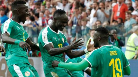Senegal celebrate