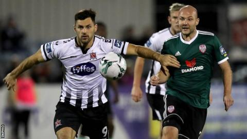 Derry City European hopes hit by 1-0 defeat by champions Dundalk