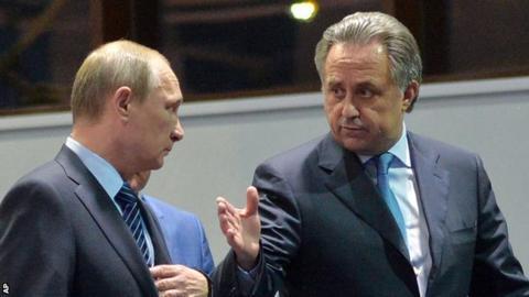 Vladimir Putin and Vitaly Mutko