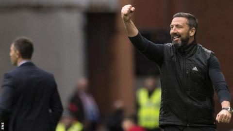 Rangers manager Pedro Caixinha and Aberdeen's Derek McInnes
