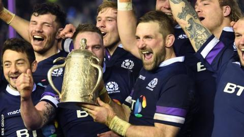 John Barclay led Scotland to Calcutta Cup success at Murrayfield in February 2018