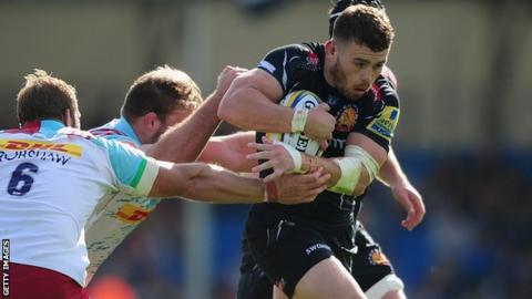 Luke Cowan-Dickie in action for Exeter against Harlequins
