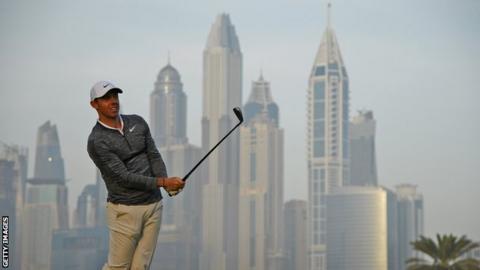 Rory McIlroy at the Dubai Desert Classic