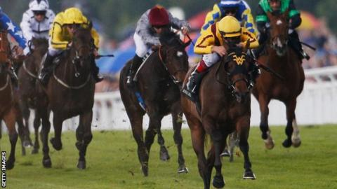 Lady Aurelia wins the Queen Mary Stakes