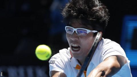 Australian open 2018 chung hyeon beats tennys sandgren to reach chung hyeon stopboris Images