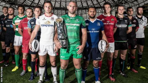 Pro12 players at the 2016-17 season launch in Dublin