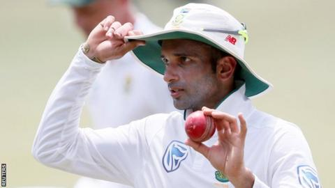 Proteas in trouble after Maharaj heroics