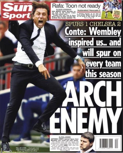 The Sun back page on Monday