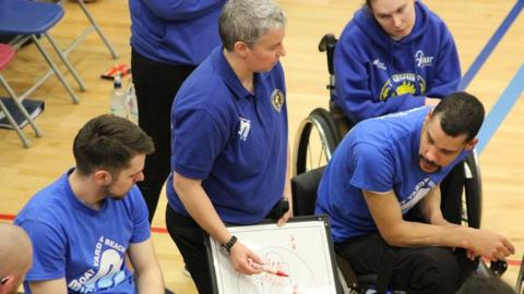 Wheelchair basketball coach Anna Jackson
