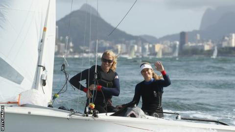 Saskia Clark (L) and Hannah Mills (R) won silver in the 470 class at London 2012