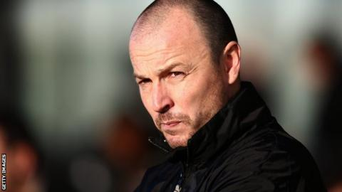 Gary Carden during his time as Southport manager