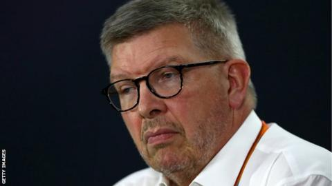 Ross Brawn in a press conference during practice for the Canadian Formula One Grand Prix