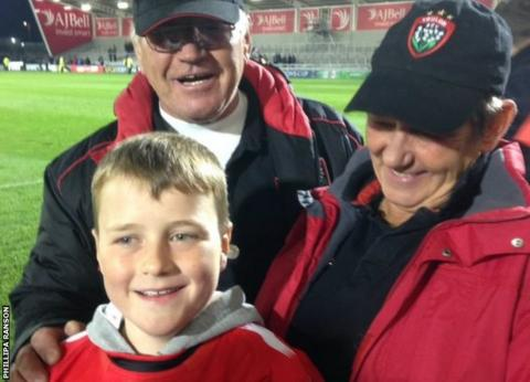 Jacob Ranson with Toulon fans