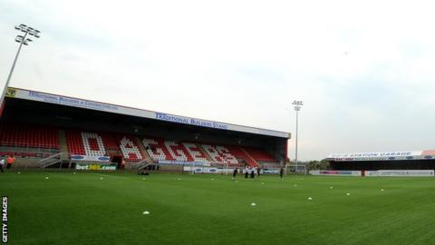 General view of Dagenham's home ground