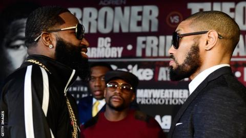 Broner will still fight Theophane (right)