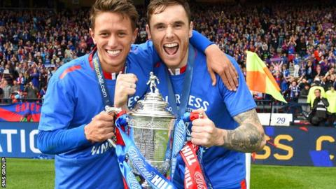 Greg Tansey (right) with Inverness team-mate Danny Williams