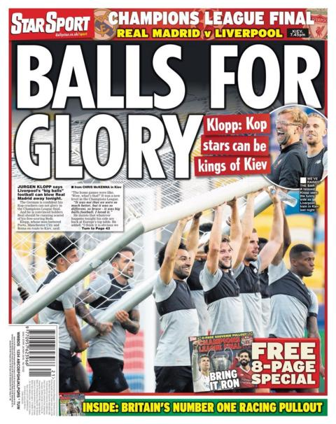 Saturday's Star back page