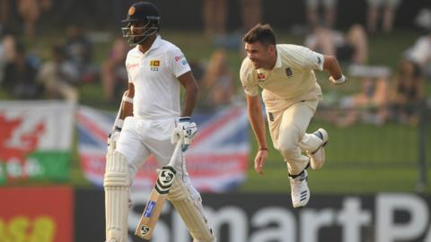James Anderson in action for England
