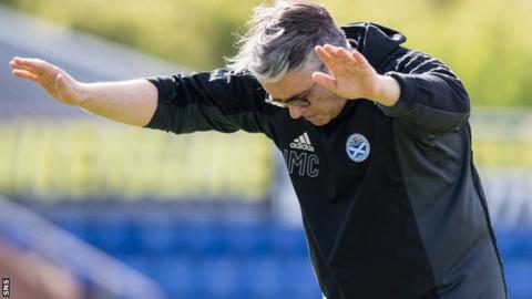 Ayr United manager Ian McCall