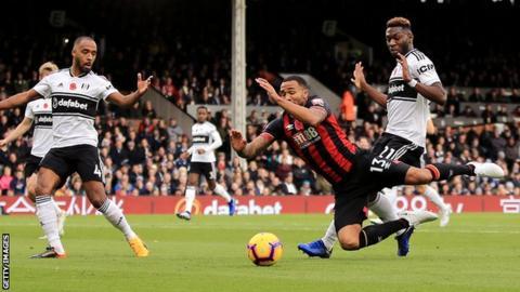 Callum Wilson of Bournemouth wins a penalty