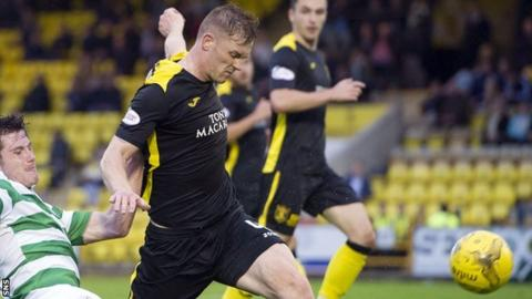 Alan Lithgow plays for Livingston in their Irn-Bru third-round tie against Celtic Colts