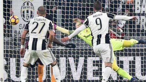 Gonzalo Higuain scores for Juventus