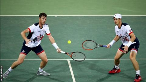 Jamie and Andy Murray at the Rio 2016 Olympics